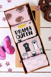 DRAMA QUEEN gift box for women 4 pairs of socks | BestSockDrawer.com