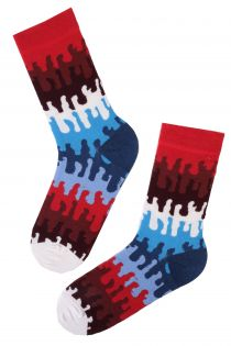 DROPS cotton socks with abstract pattern | BestSockDrawer.com