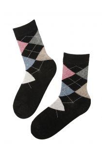 EDNA black angora socks for women | BestSockDrawer.com