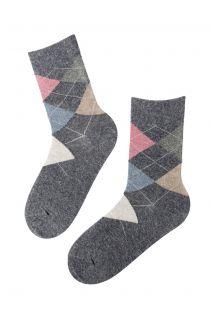 EDNA grey angora socks for women | BestSockDrawer.com