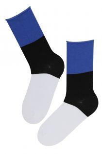 EESTI children's cotton socks in the colours of the Estonian flag   BestSockDrawer.com