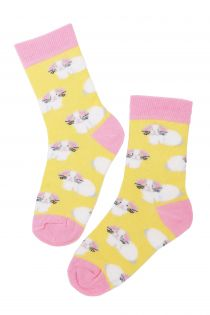 EGGBUNNY cotton Easter socks with bunnies for kids | BestSockDrawer.com
