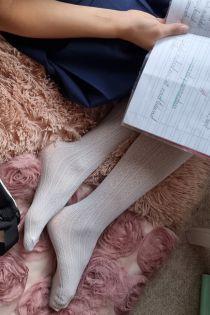 EGLE white tights for kids | BestSockDrawer.com