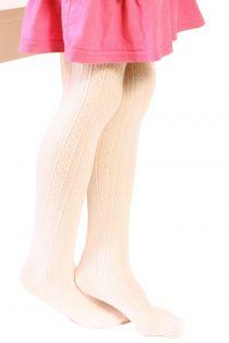 EGLE creamy white tights for kids | BestSockDrawer.com