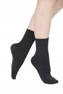 ELENA dark grey socks containing silk | BestSockDrawer.com