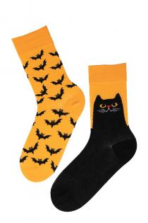 EVIL CAT halloween socks with cats | BestSockDrawer.com