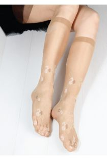 FLORA 20 DEN women's beige knee-highs | BestSockDrawer.com