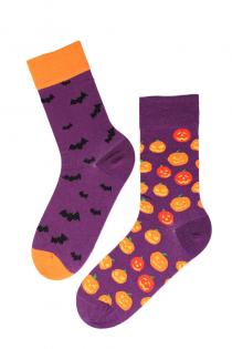 FLYING BAT halloweeni sokid kõrvitsate ja nahkhiirtega | BestSockDrawer.com