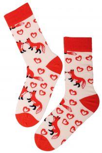 FOXY LOVE Valentine's Day cotton socks | BestSockDrawer.com