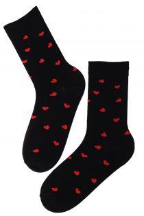 FRIENDSHIP black Valentine's Day cotton socks | BestSockDrawer.com