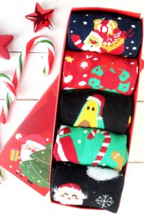 SWEET HOME Christmas gift box with 5 pairs of socks for men   BestSockDrawer.com
