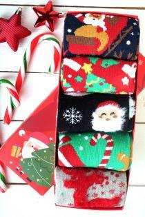 SWEET HOME Christmas gift box with 5 pairs of socks for women | BestSockDrawer.com