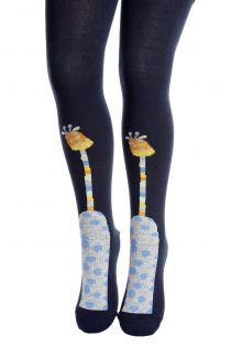 GIRAFFE dark blue tights for children | BestSockDrawer.com