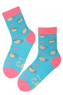 GOOD MORNING cotton socks for a morning person | BestSockDrawer.com