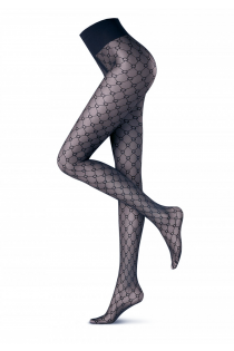 Oroblu GRAPHIC HUB 20DEN blue tights | BestSockDrawer.com