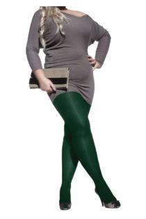PLUS 40 GREEN microfiber tights for PLUS SIZE | BestSockDrawer.com