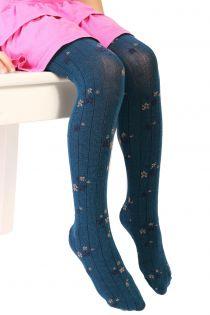 GRETA blue tights for kids | BestSockDrawer.com
