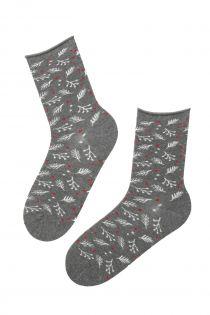 WONDERLAND grey angora socks for women | BestSockDrawer.com