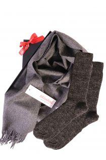 Alpaca wool scarf and socks gift box   BestSockDrawer.com