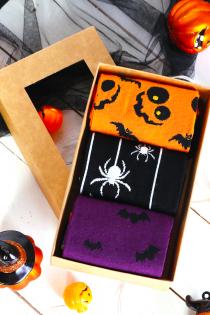 Halloween gift box FLYING BAT with 3 pairs | BestSockDrawer.com