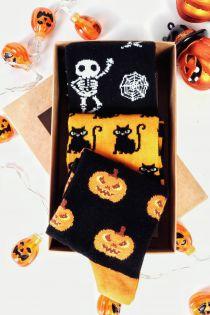 HALLOWEEN gift box with 3 pairs of socks for kids | BestSockDrawer.com