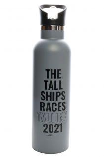 THE TALL SHIPS RACES 2021 grey water bottle | BestSockDrawer.com