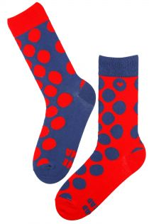 HAPPY LOVE dark blue cotton socks | BestSockDrawer.com