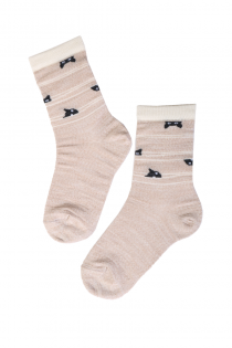 HIDDEN CAT merino wool socks for kids | BestSockDrawer.com