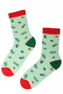 SPRUCE cotton Christmas socks | BestSockDrawer.com