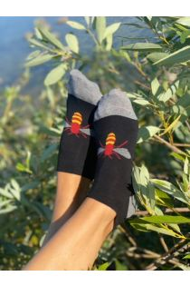 BEE low-cut cotton socks with a bee | BestSockDrawer.com