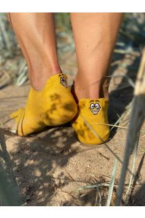 FACE yellow low-cut cotton socks | BestSockDrawer.com