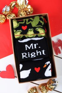 MR.RIGHT gift box for men with 3 pairs of socks | BestSockDrawer.com