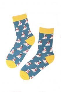 JACK RUSSELL dog patterned cotton socks | BestSockDrawer.com