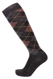 JANEK brown cotton knee-highs for men | BestSockDrawer.com