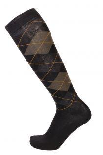 JANEK green cotton knee-highs for men | BestSockDrawer.com
