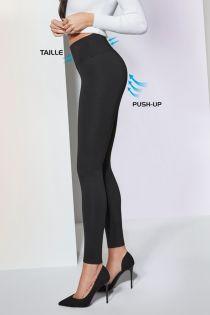 JUSTINE 400DEN black viscose push up leggings | BestSockDrawer.com