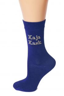 Women's socks with personal name, MODERN font style | BestSockDrawer.com
