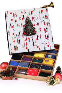 Advent calendar FOR CHIC MEN with 24 pairs of suit socks | BestSockDrawer.com