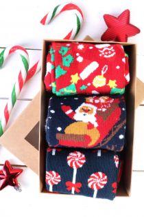 GIFT Christmas gift box containing 3 pairs of socks | BestSockDrawer.com