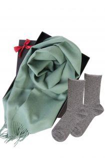 Alpaca wool scarf and ANNI socks gift box for women | BestSockDrawer.com