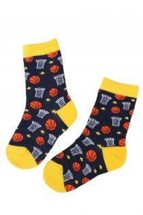 BASKETBALL basketball fan cotton socks for kids | BestSockDrawer.com