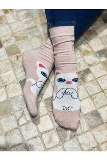 KITTY pink cotton socks for cat lovers | BestSockDrawer.com