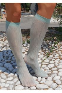KIWI bluish green knee highs for women | BestSockDrawer.com