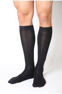 KRISS black cotton knee highs for men | BestSockDrawer.com