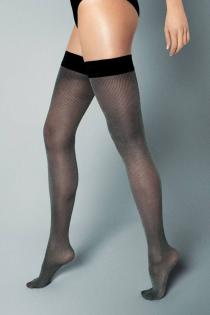 KRISTA 30DEN elegant striped hold-ups | BestSockDrawer.com