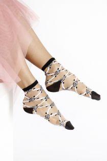 KRISTIN sheer black and white socks for women | BestSockDrawer.com