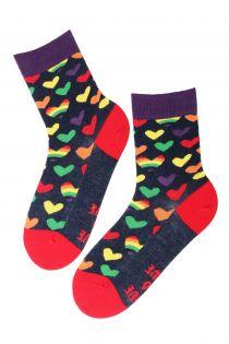 LOVE cotton socks with hearts | BestSockDrawer.com