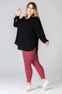 LUIZA queen size burgundy leggings | BestSockDrawer.com