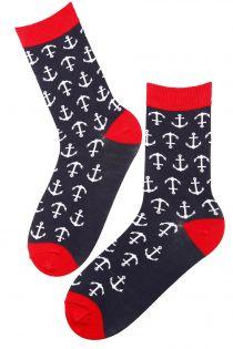 MARINE dark blue viscose socks for women | BestSockDrawer.com