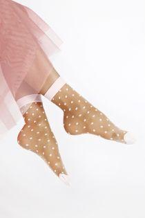 MERITA sheer brown socks for women   BestSockDrawer.com